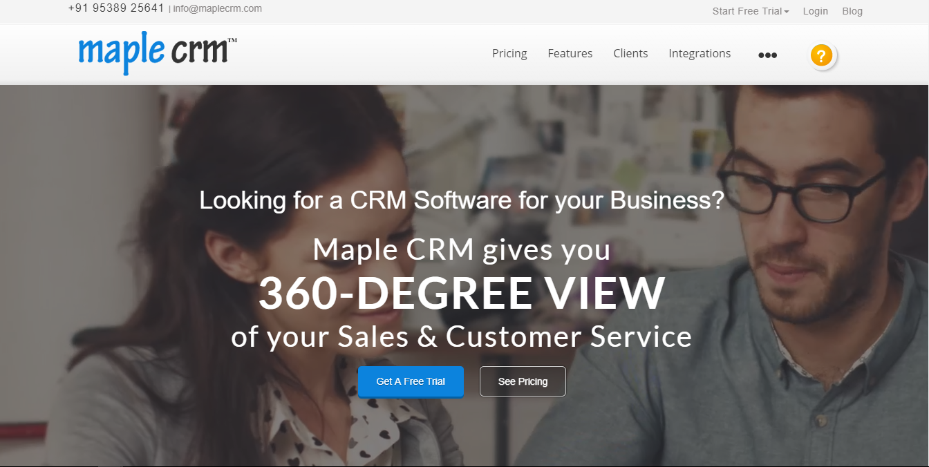 Best CRM Software in India - Maple CRM