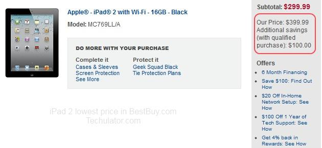 iPad 2 lowest price in USA