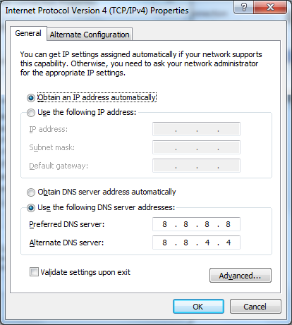 Switch to Google DNS to solve Facebook problem