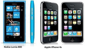 Apple iPhone 4S and Nokia Lumia 800