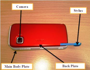 Nokia 5233 main body parts