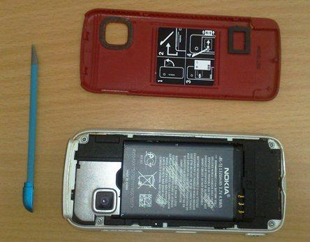 Disassemble of Nokia 5233