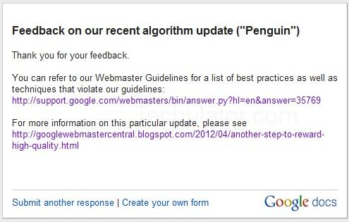 Recover from Google Penguin update