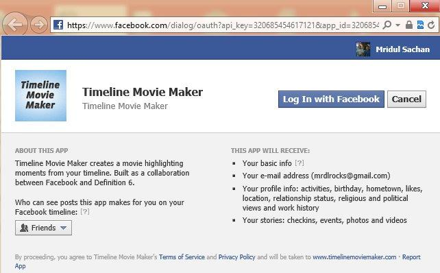 Facebook Movie Maker