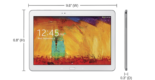 Samsung Galaxy Note 10.1 (2014 Edition)-Dimensions