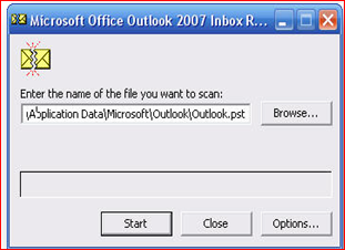 How to fix the issue if Outlook shows scanning the PST when launching
