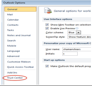 How to fix the issue if you are unable to view Images in the emails outlook 2010