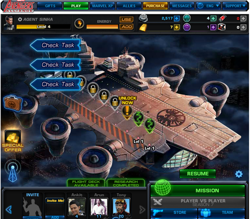 Flight Deck Avengers Alliance