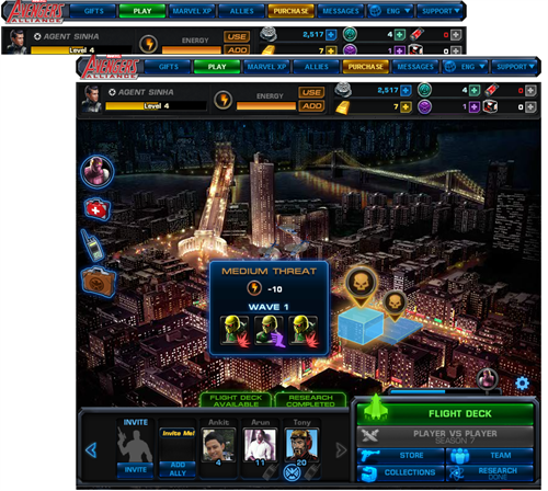 Map Avengers Alliance