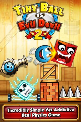 Review of the game Tiny Ball vs Evil Devil 2 for Google Play Store