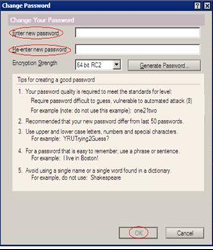 How to change the Lotus Notes password