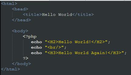 php hello world