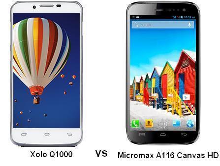 XOLO Q1000 vs MICROMAX A116 CANVAS HD
