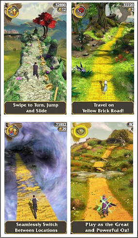 Screen shots of Temple Run Oz