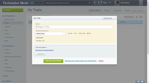 Task addition