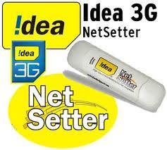 Prepaid Data Plan For Idea Netsetter In Maharshtra Goa 3G NetSetter