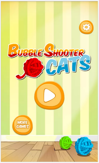 Bubble Shooter Cats homepage