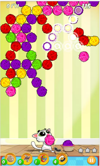 Gameplay Bubble Shooter Cats