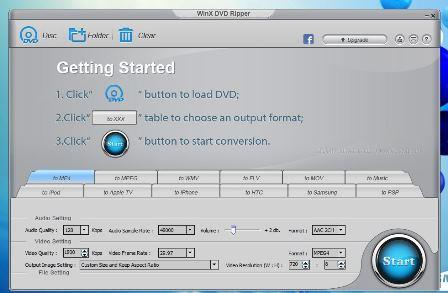 Start box for WinX DVD ripper software