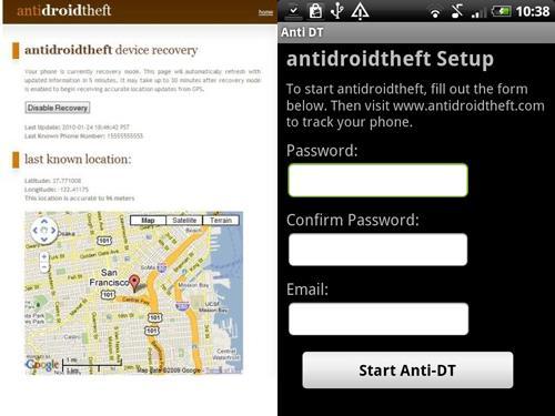 AntiDroidTheft App