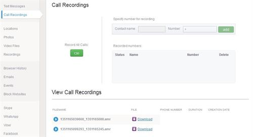 Spy software for call recording