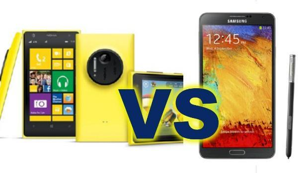 Samsung Galaxy Note 3 vs Nokia Lumia 1020