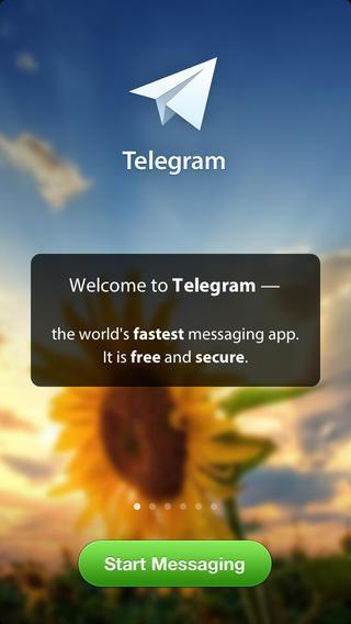 Telegram messaging app for Android and iOS