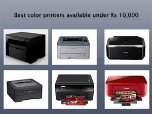 Best color printers below Rs 10,000
