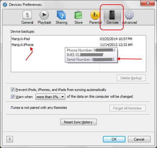 How to find imei number on lost iphone 5