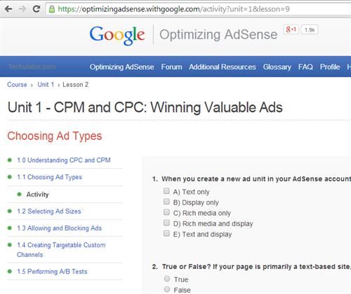 AdSense certification