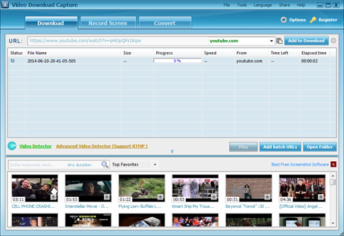 Download with Apowersoft video download capture