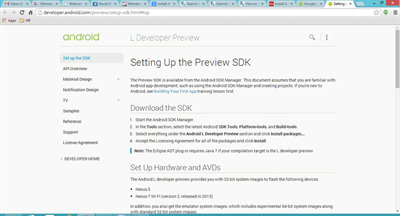 Android Preview SDK Setup