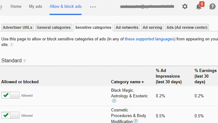 Adsense block dating ads