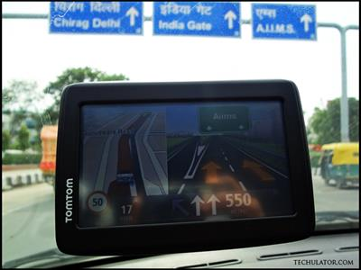 TomTom dual screen feature