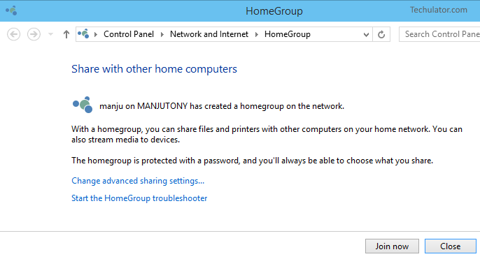 Windows 10 Homegroup