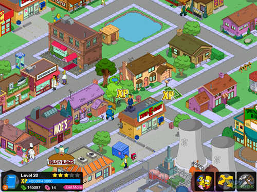 The Simpsons Tapped out game