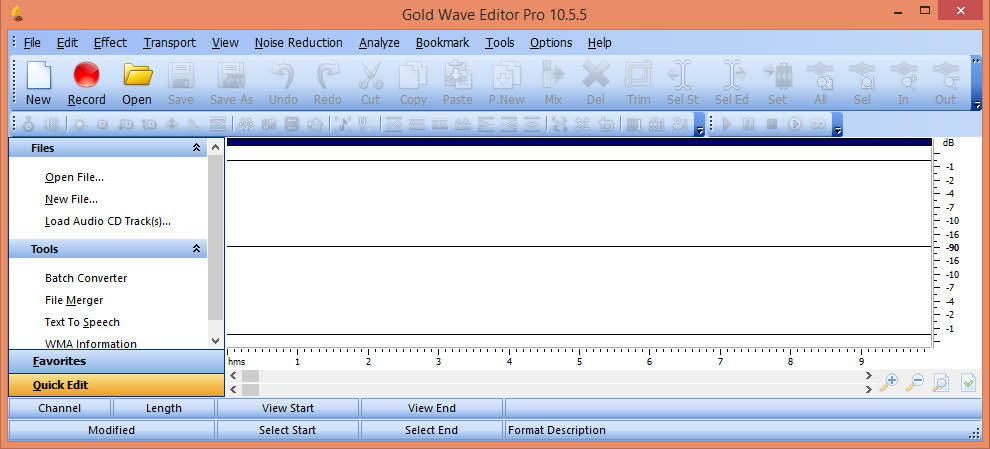 Screenshot of Gold Wave Editor Pro