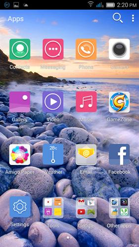 Gionee marathon m3 apps screenshot