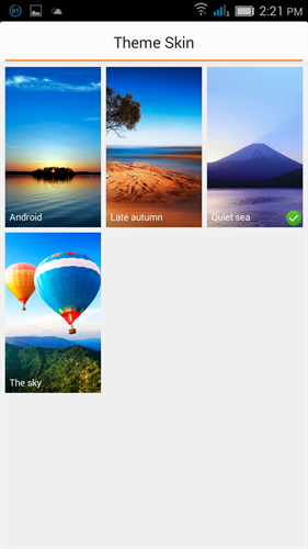 Gionee marathon m3 theme manager screenshot