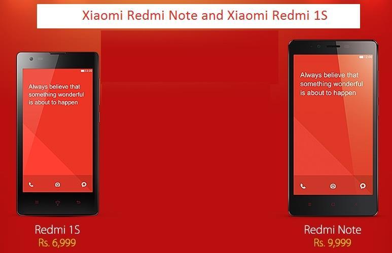 Redmi Note and Redmi 1S