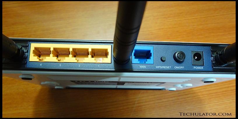 TP Link TL-WR940N Rear ports