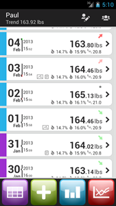 weigh tracker android app