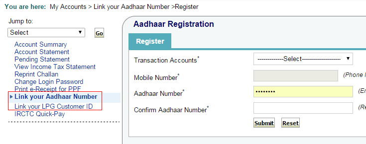 How to link Aadhar card with State Bank of India (SBI) online | LPG Bank Account Aadhaar Linkage Application Form For Lpg Consumers Only on