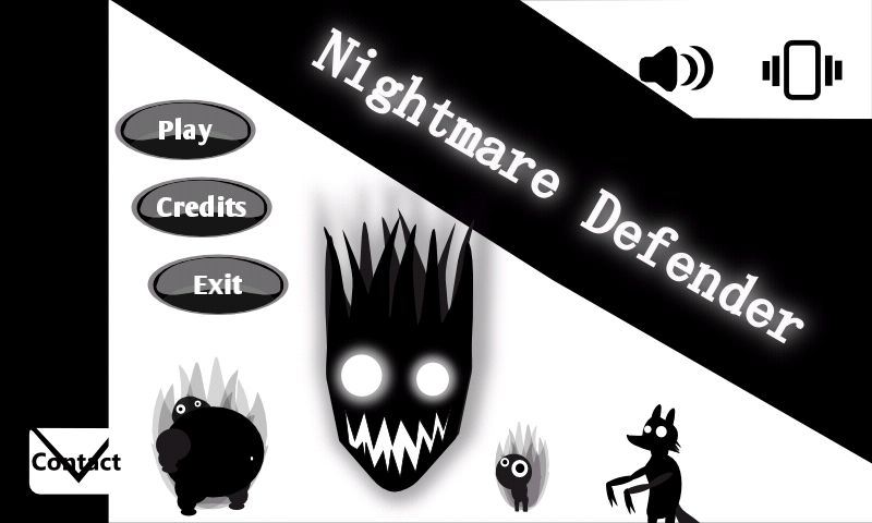 Home screen Nightmare Defender