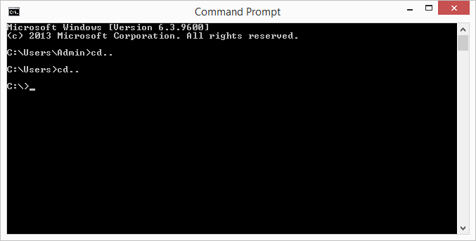 command prompt cd..