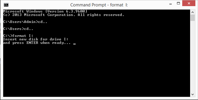 press enter when ready command prompt