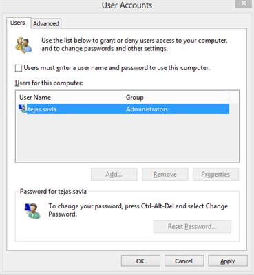 Automatic Login Windows 10 User Accounts Settings