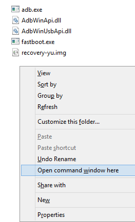 Yu Yureka Root Process Opening Command Prompt