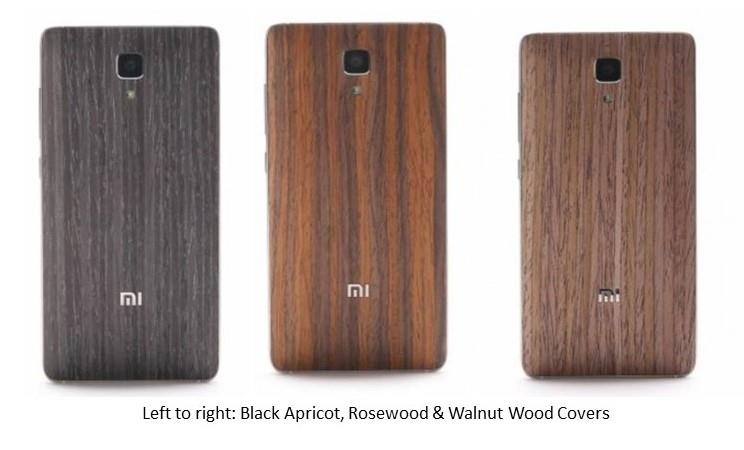 Wood covers for Xiaomi Mi4