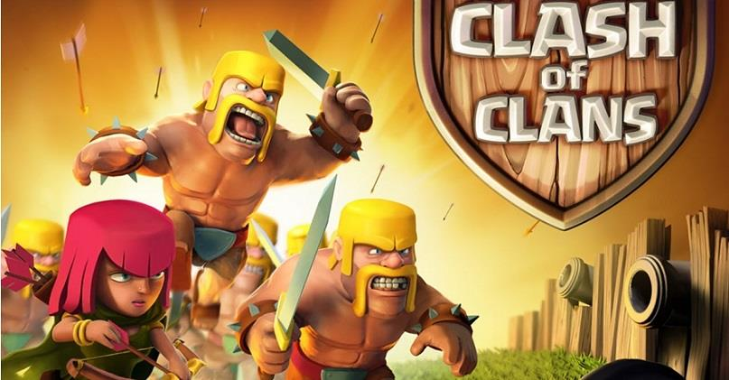 clash of the clans android game screen shot start screen